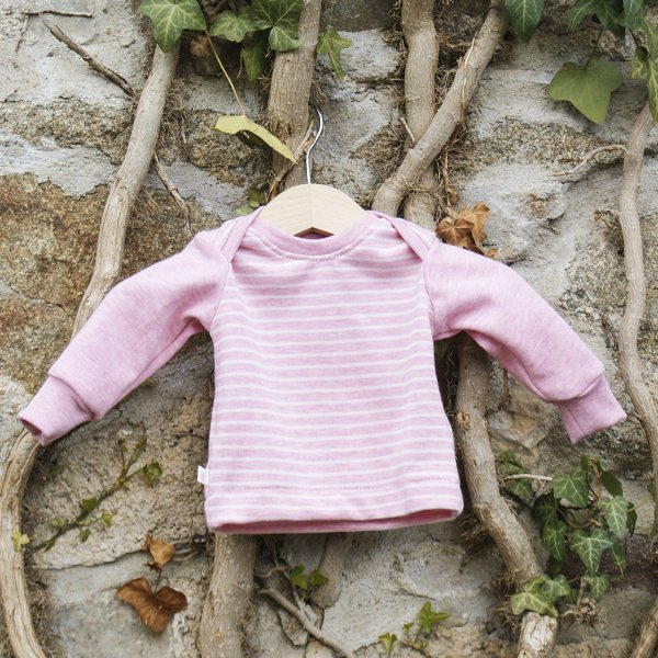"Bio-Babyshirt, Jacquard ""Ringel"" rosa"