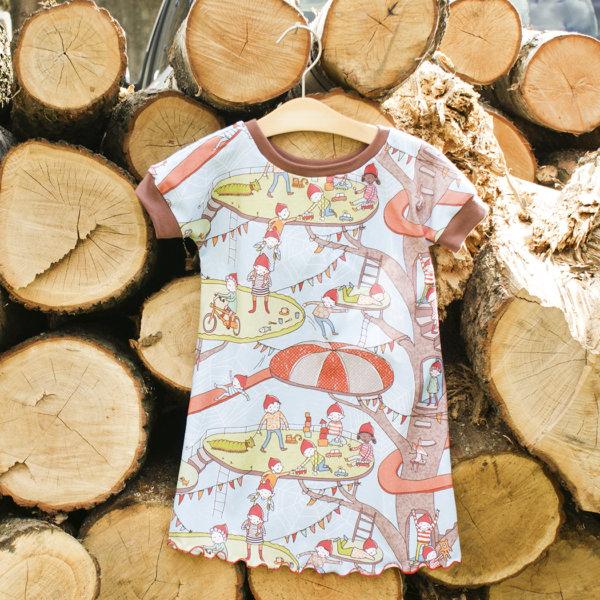 """Bio T-Shirtkleid, BioJersey """"Wichtelabenteuerspielplatz"""""""