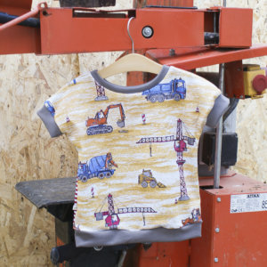"""Bio T-Shirt, BioJersey """"Baustellenfahrzeuge"""""""
