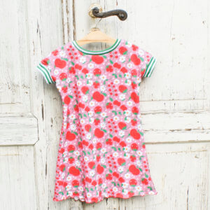 "Bio T-Shirtkleid, Biojersey ""Erdbeeren & Kirschen"""