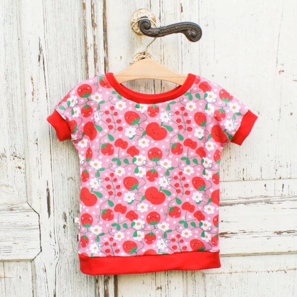 """Bio T-Shirt """"Erdbeeren"""" & """"Kirschen"""""""