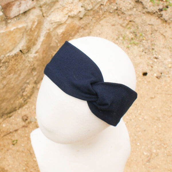 Bio Stirnband, BioJersey dunkelblau