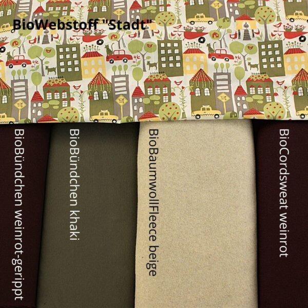 Übersicht Herbst/Winterkollektion weinrot/beige/khaki