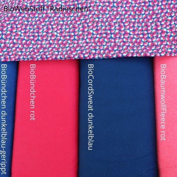 Übersicht Herbst/Winterkollektion blau/rot