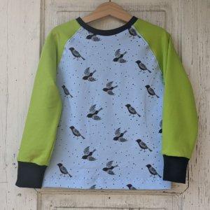 """Bio Sweatshirt, BioSweat """"Birds & Dots"""" hellblau"""