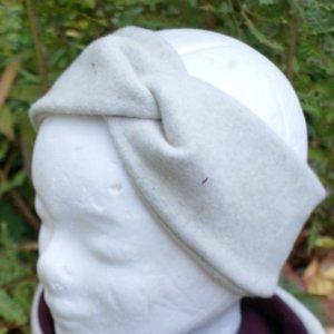 Bio Stirnband, BioBaumwollFleece beige